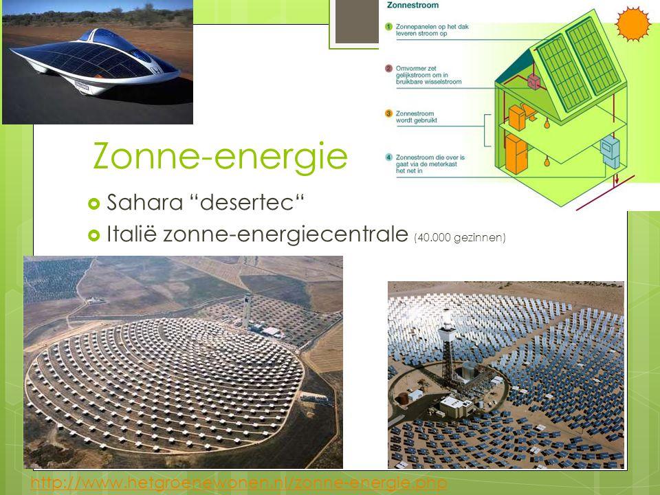 Zonne-energie Sahara desertec