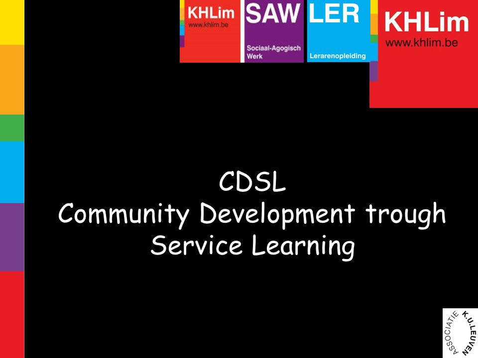 CDSL Community Development trough Service Learning