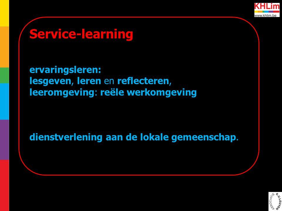 Service-learning ervaringsleren: lesgeven, leren en reflecteren,