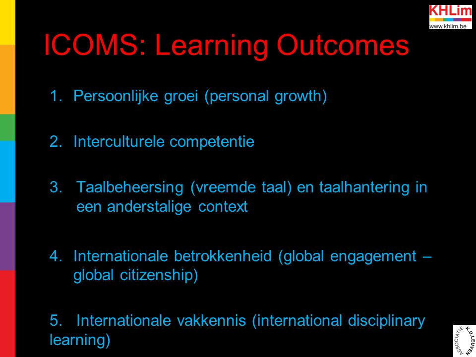 ICOMS: Learning Outcomes