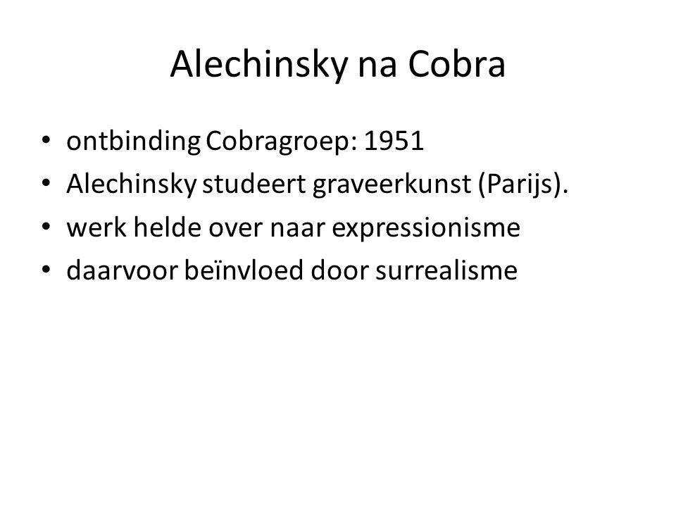 Alechinsky na Cobra ontbinding Cobragroep: 1951