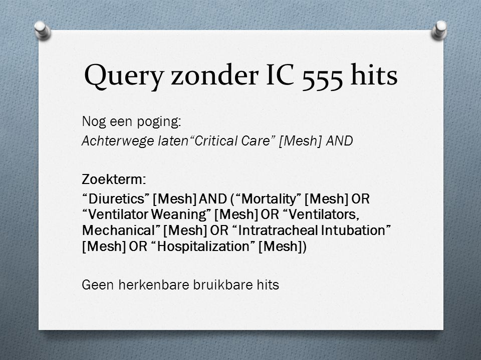 Query zonder IC 555 hits