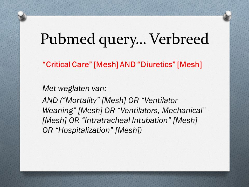 Pubmed query… Verbreed