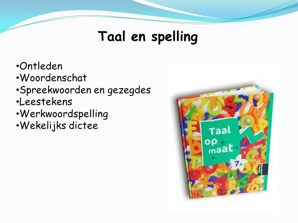 Taal en spelling Ontleden Woordenschat Spreekwoorden en gezegdes