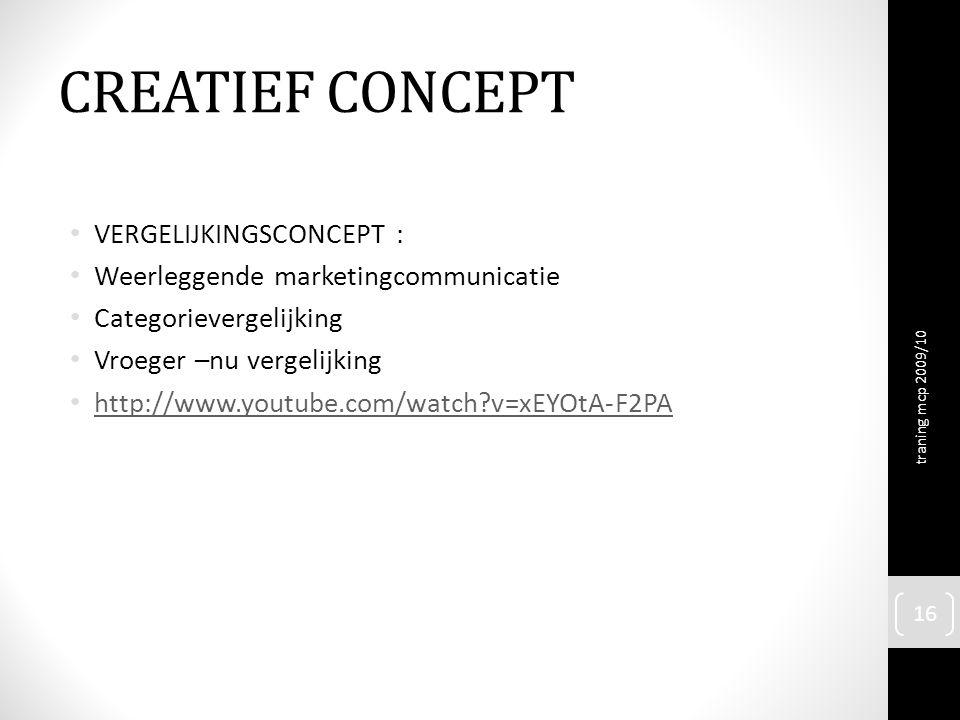 CREATIEF CONCEPT VERGELIJKINGSCONCEPT :