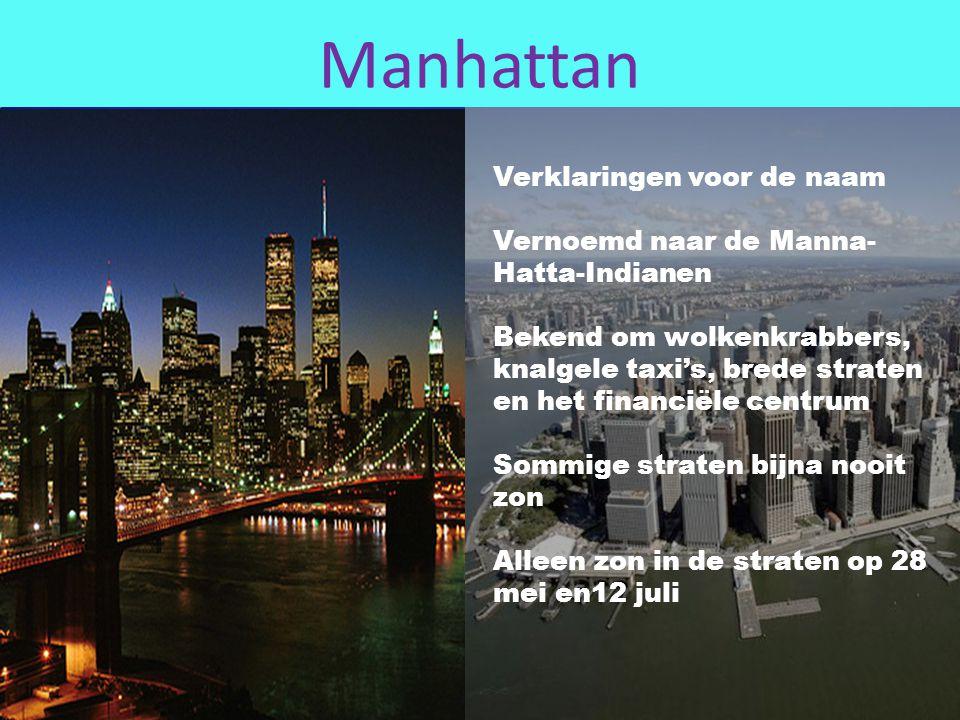 Manhattan Verklaringen voor de naam