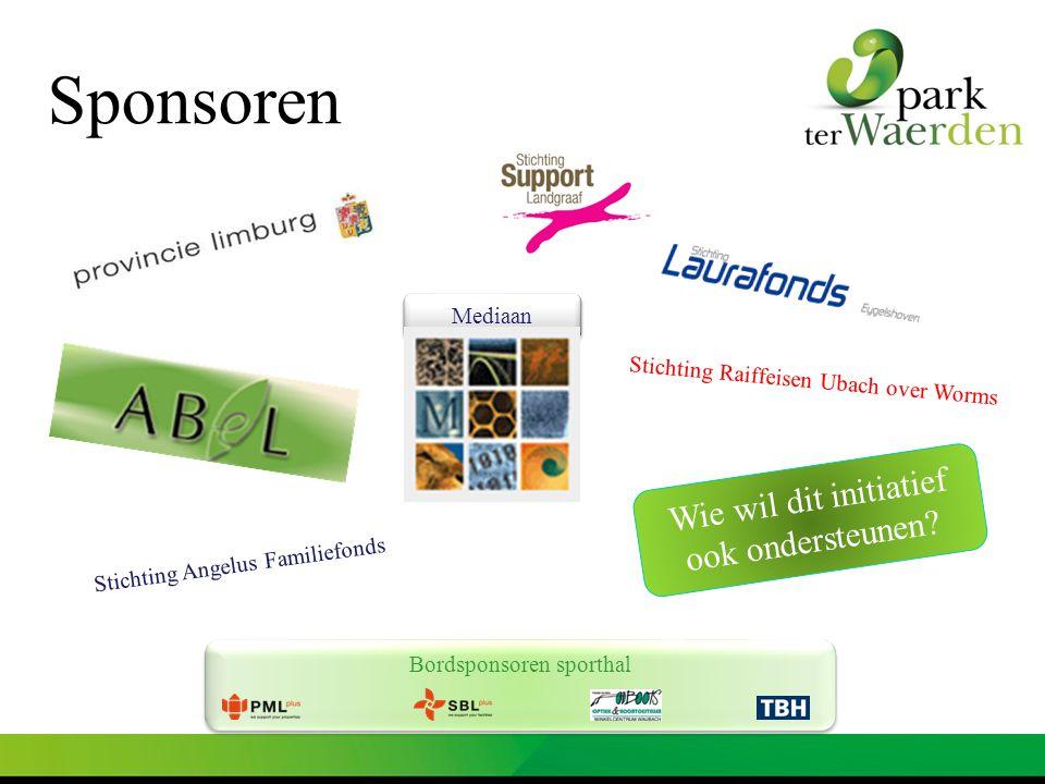 Sponsoren Wie wil dit initiatief ook ondersteunen Mediaan