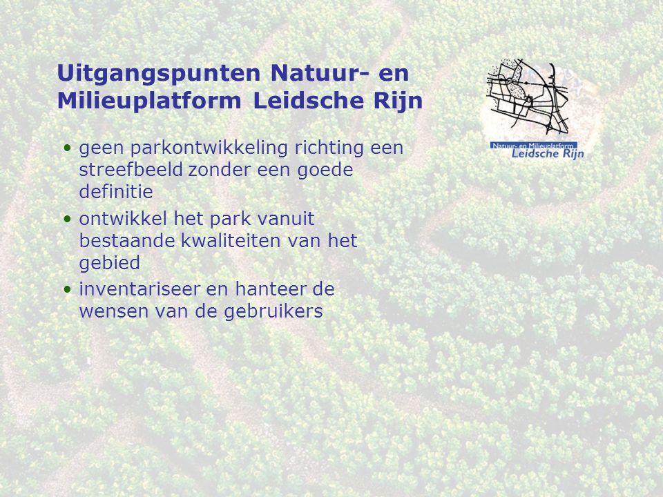 Uitgangspunten Natuur- en Milieuplatform Leidsche Rijn