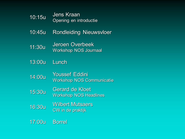 Rondleiding Nieuwsvloer 11:30u Jeroen Overbeek