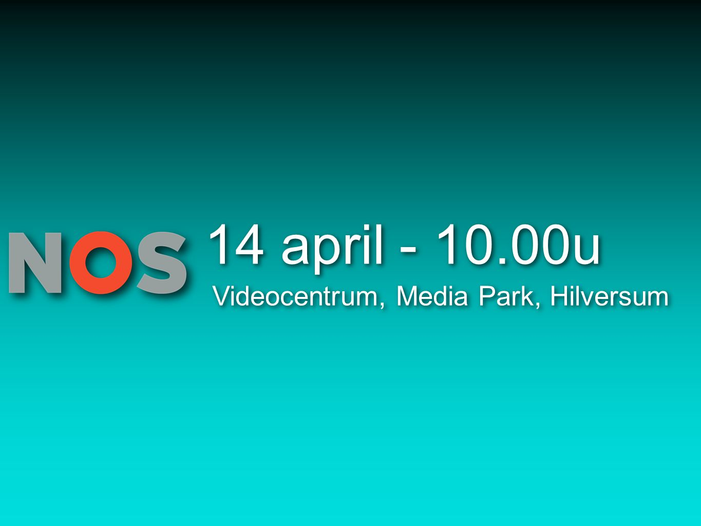 14 april - 10.00u Videocentrum, Media Park, Hilversum
