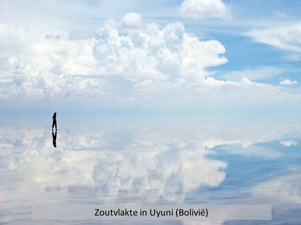 Zoutvlakte in Uyuni (Bolivië)
