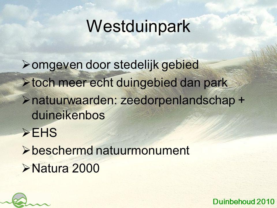 Westduinpark omgeven door stedelijk gebied
