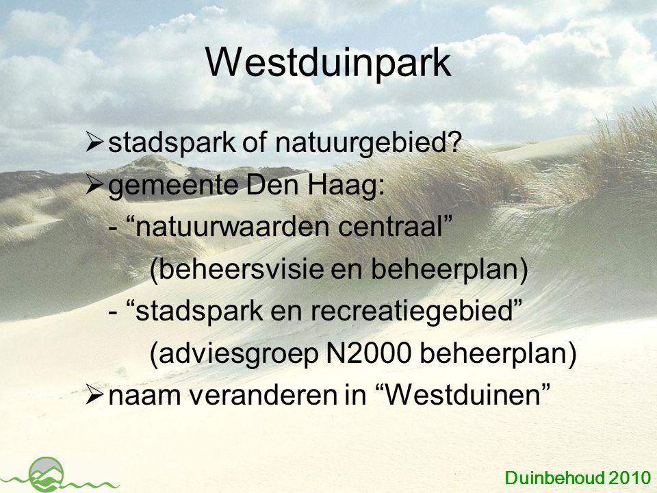 Westduinpark stadspark of natuurgebied gemeente Den Haag:
