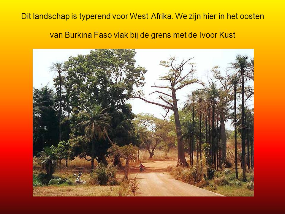 Dit landschap is typerend voor West-Afrika
