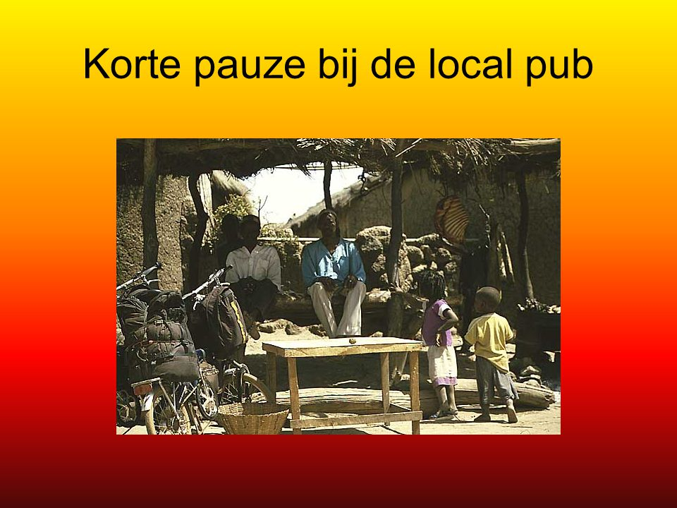 Korte pauze bij de local pub