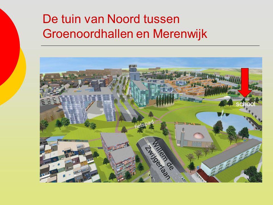De tuin van Noord tussen Groenoordhallen en Merenwijk