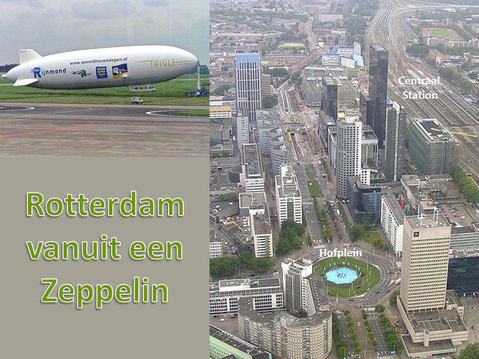Rotterdam vanuit een Zeppelin