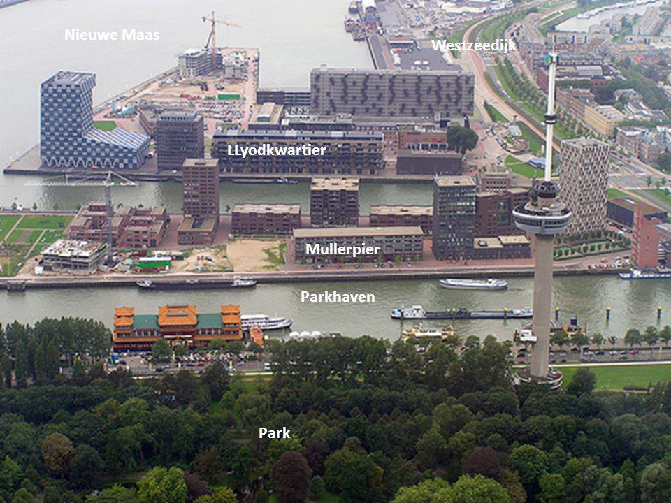 Nieuwe Maas Westzeedijk LLyodkwartier Mullerpier Parkhaven Park