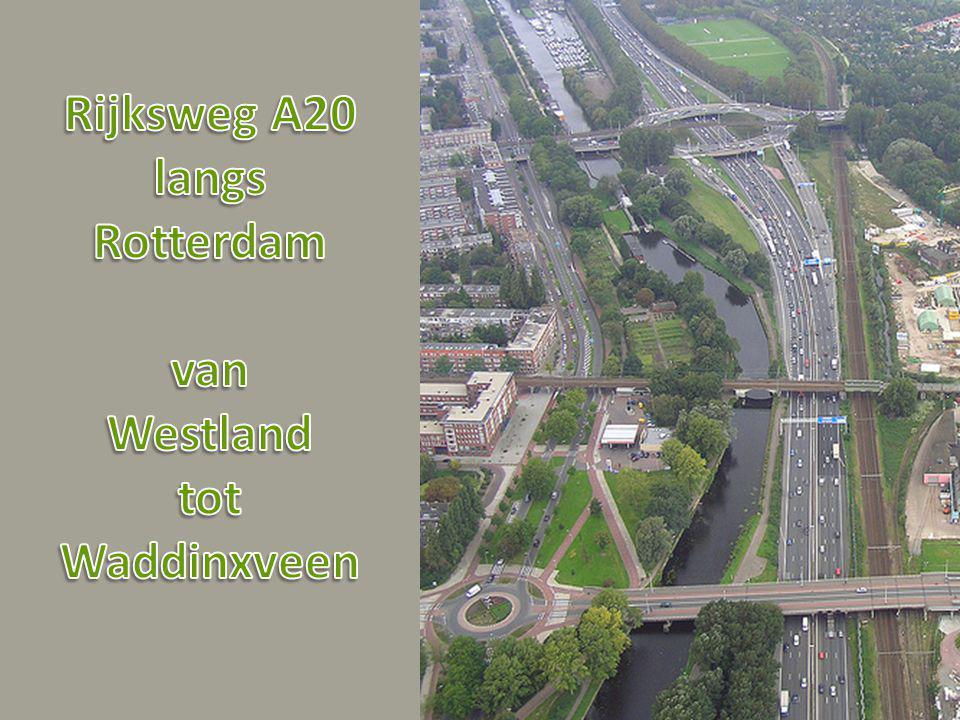 Rijksweg A20 langs Rotterdam van Westland tot Waddinxveen