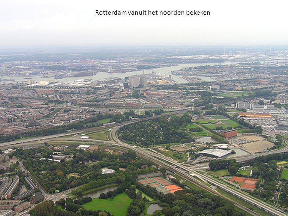 Rotterdam vanuit het noorden bekeken