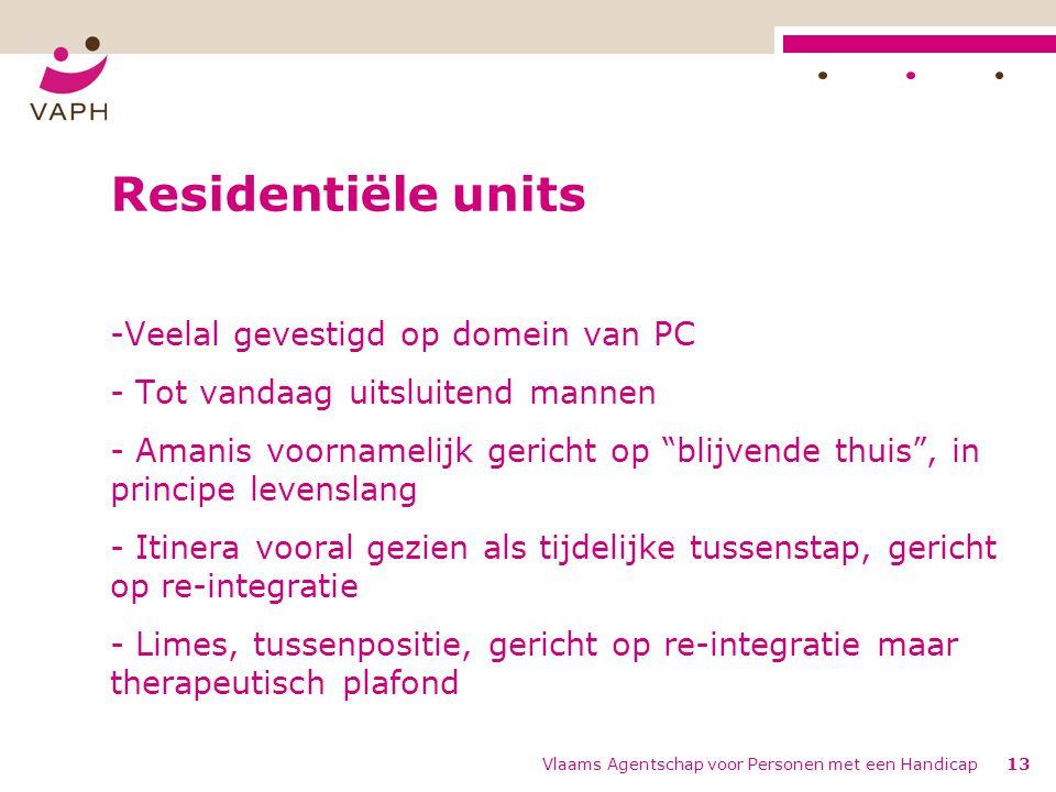 Residentiële units Veelal gevestigd op domein van PC
