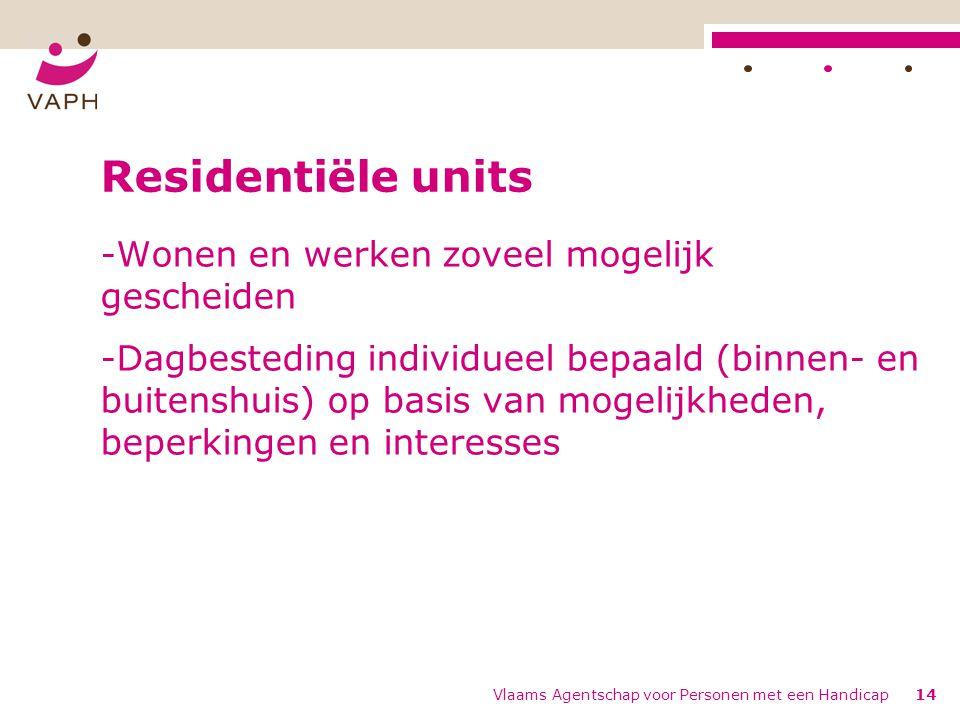 Residentiële units Wonen en werken zoveel mogelijk gescheiden