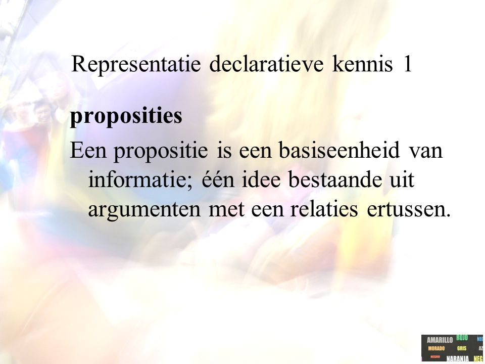 Representatie declaratieve kennis 1