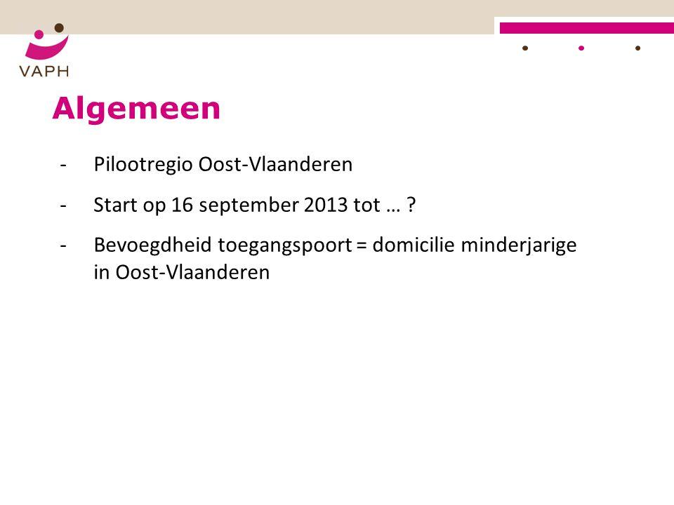 Algemeen Pilootregio Oost-Vlaanderen