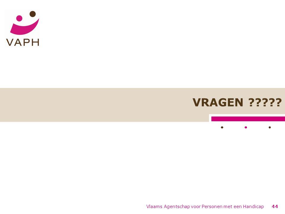 VRAGEN Vlaams Agentschap voor Personen met een Handicap