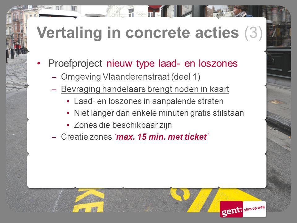 Vertaling in concrete acties (3)