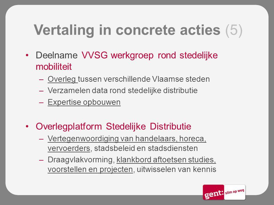Vertaling in concrete acties (5)