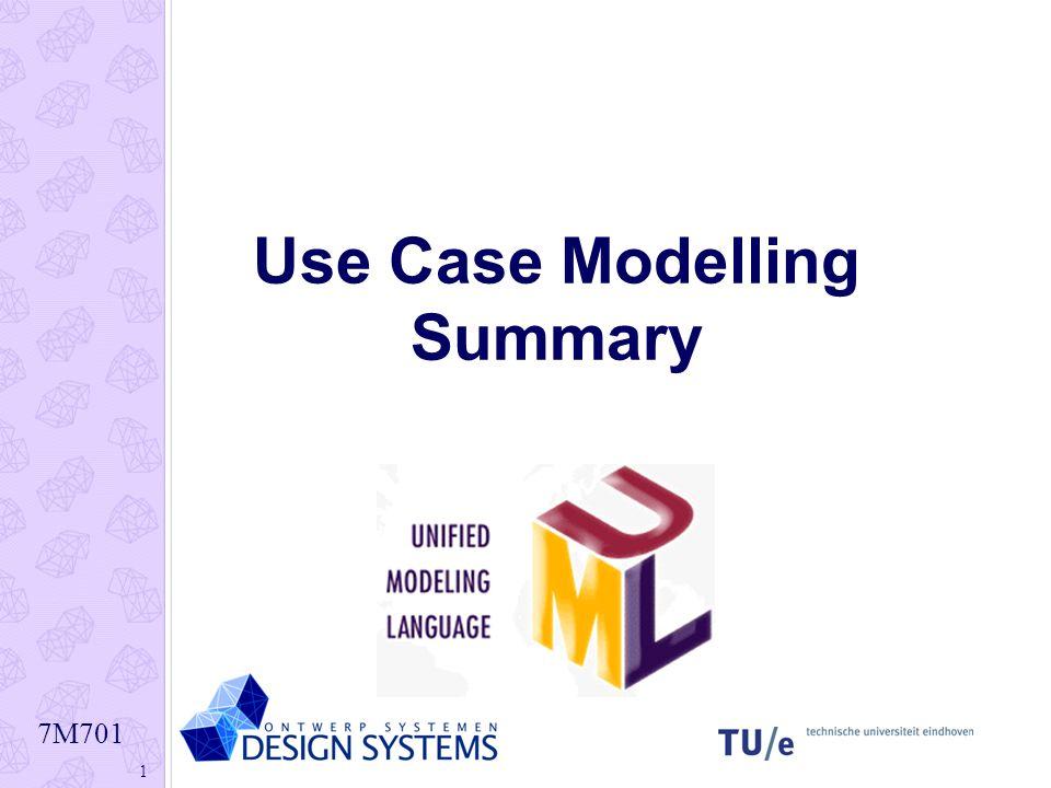 Use Case Modelling Summary