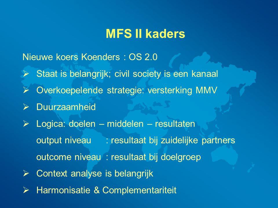 MFS II kaders Nieuwe koers Koenders : OS 2.0