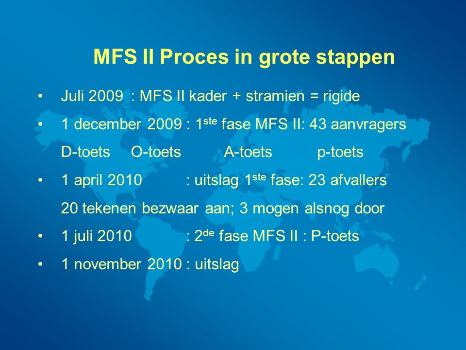 MFS II Proces in grote stappen