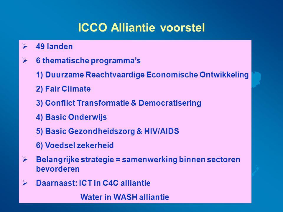 ICCO Alliantie voorstel