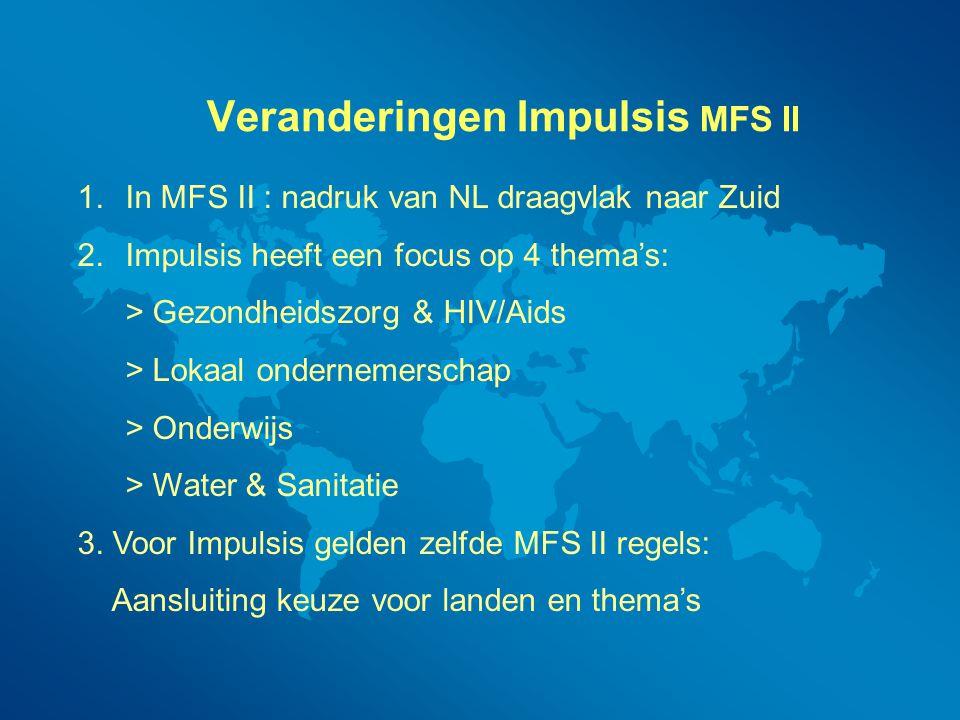 Veranderingen Impulsis MFS II