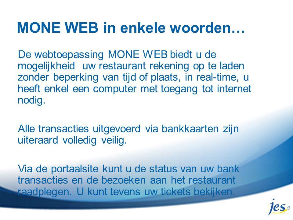 MONE WEB in enkele woorden…