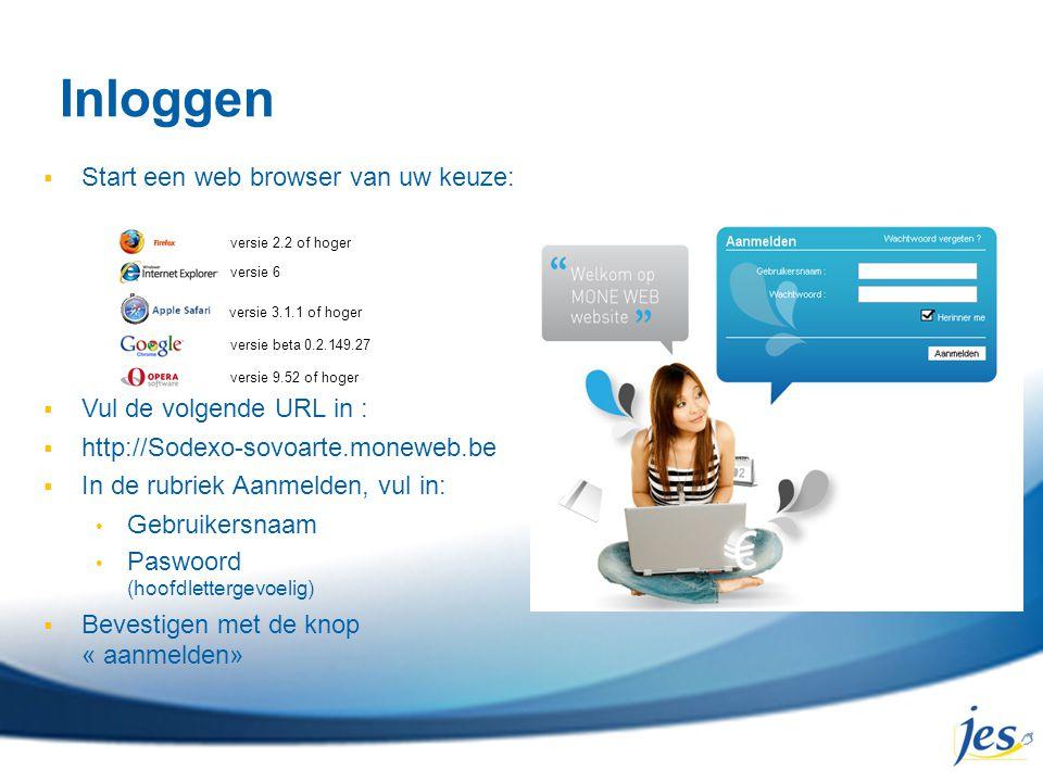 Inloggen Start een web browser van uw keuze: Vul de volgende URL in :
