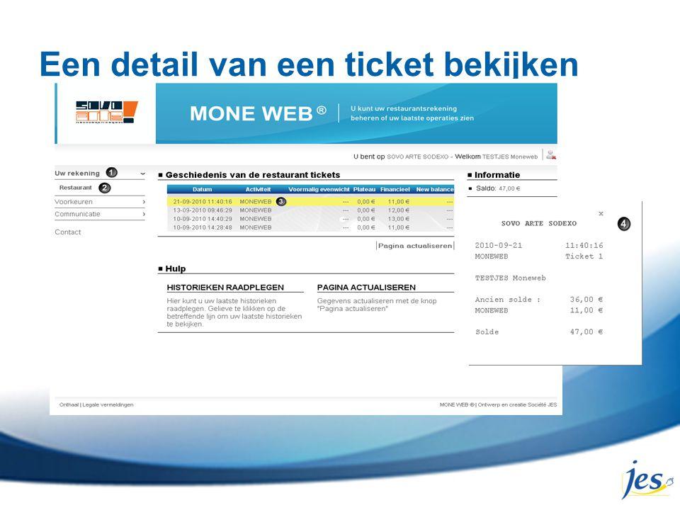 Een detail van een ticket bekijken