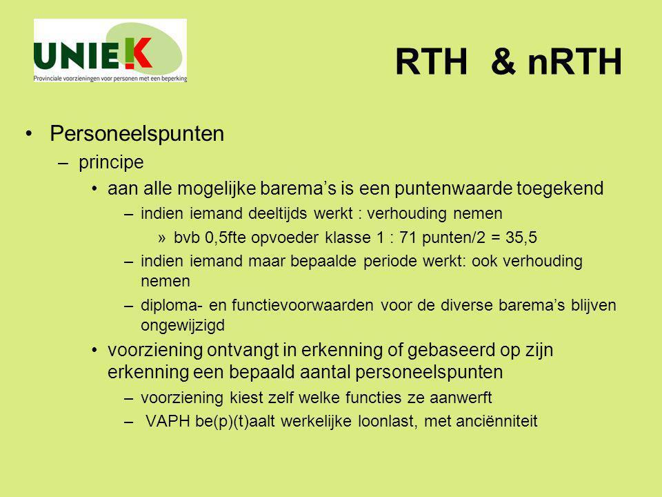 RTH & nRTH Personeelspunten principe