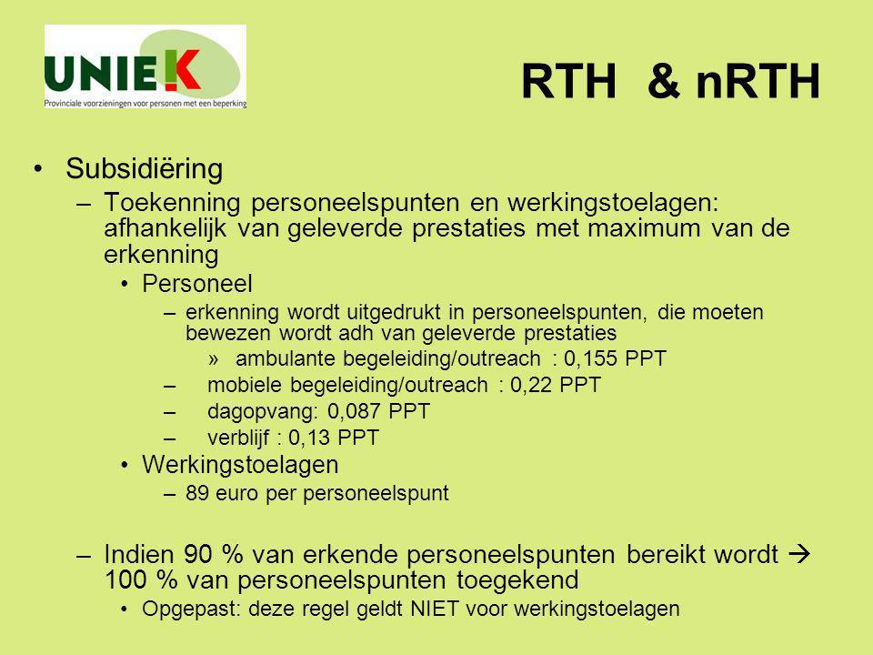 RTH & nRTH Subsidiëring