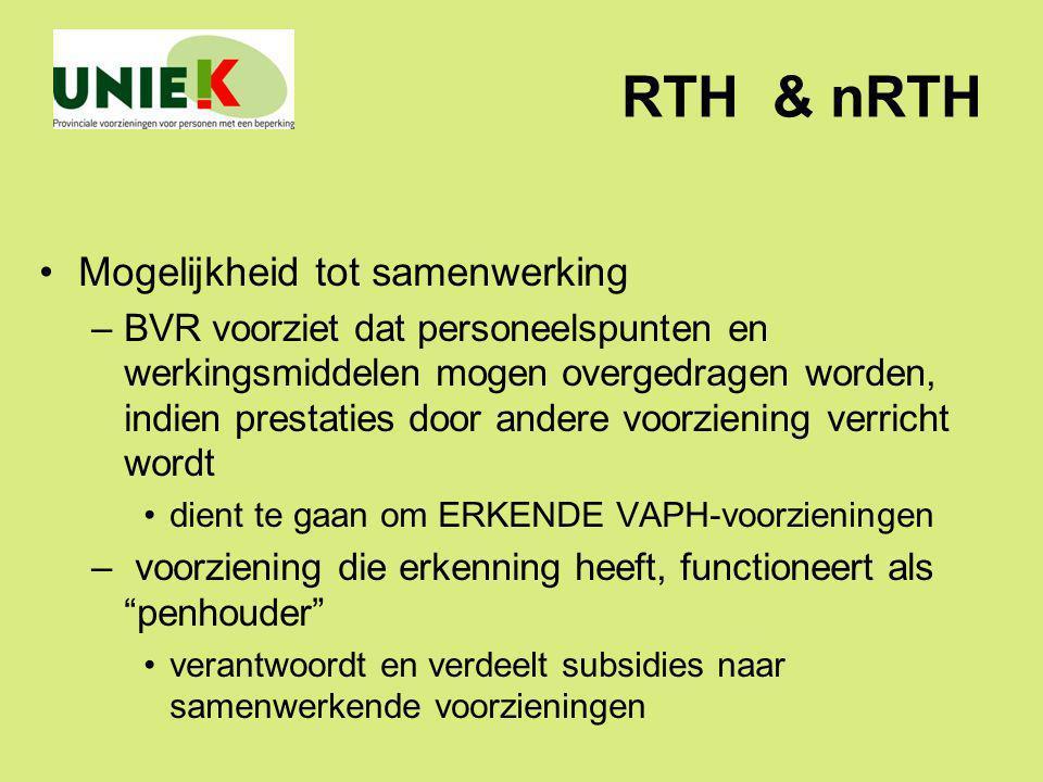 RTH & nRTH Mogelijkheid tot samenwerking