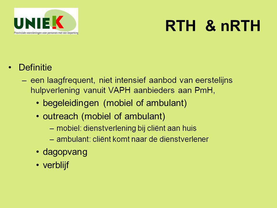 RTH & nRTH Definitie begeleidingen (mobiel of ambulant)