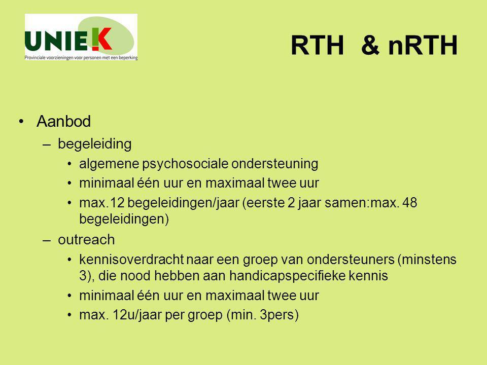RTH & nRTH Aanbod begeleiding outreach