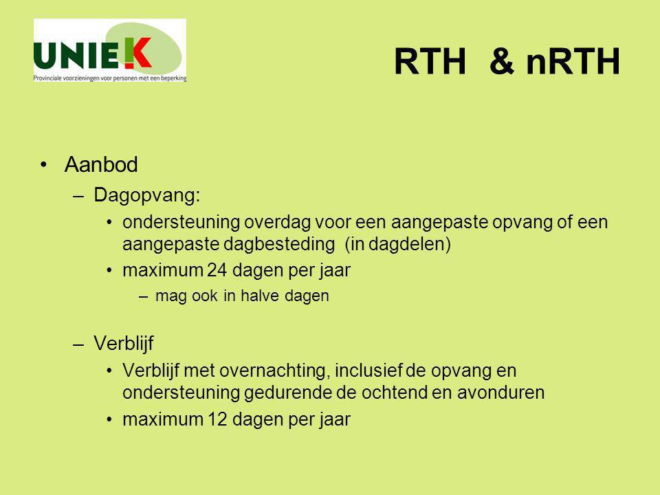 RTH & nRTH Aanbod Dagopvang: Verblijf