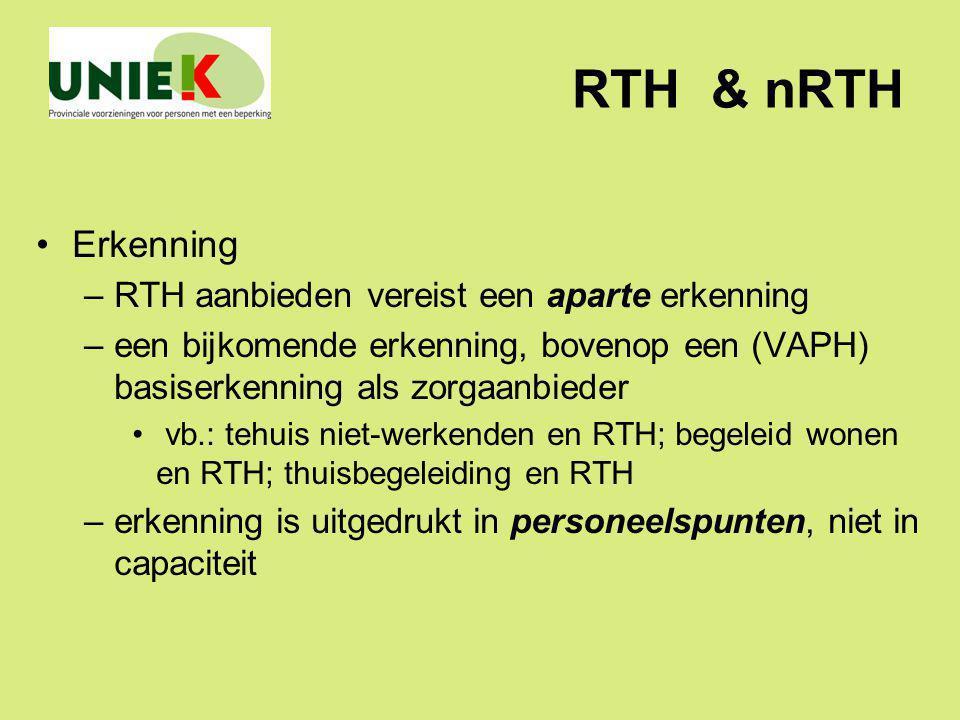 RTH & nRTH Erkenning RTH aanbieden vereist een aparte erkenning
