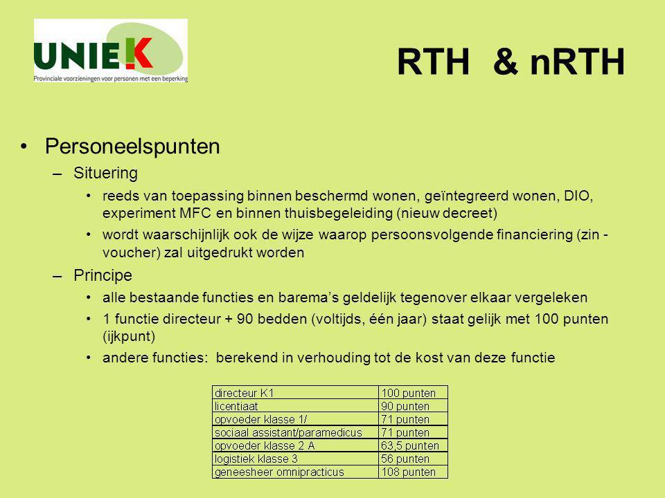 RTH & nRTH Personeelspunten Situering Principe