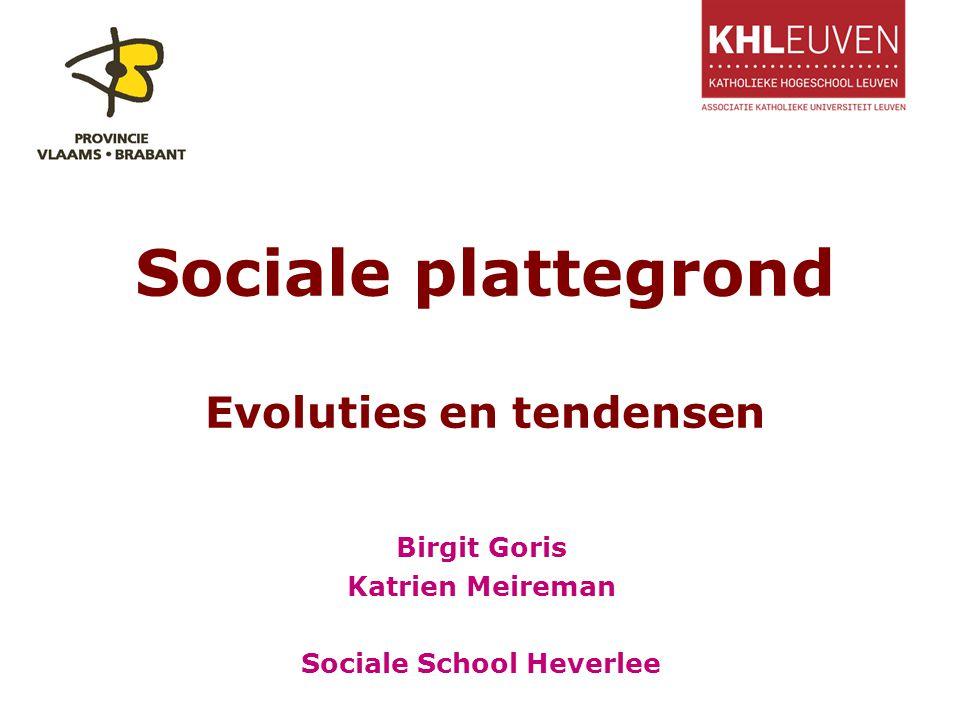 Sociale plattegrond Evoluties en tendensen