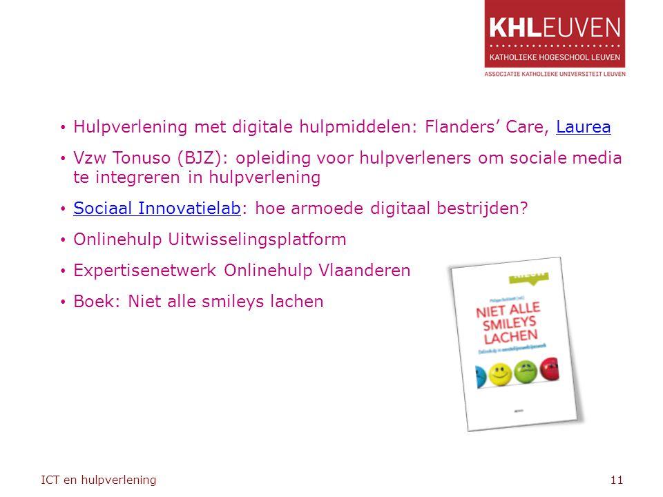 Hulpverlening met digitale hulpmiddelen: Flanders' Care, Laurea