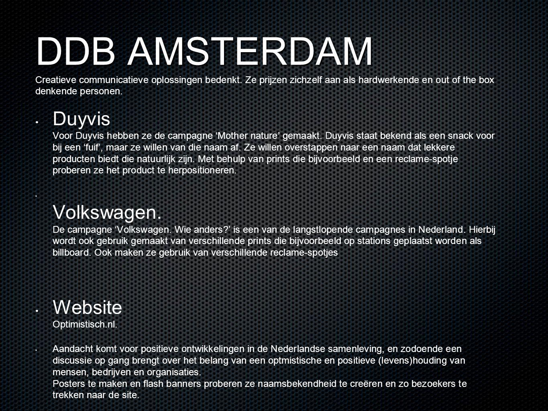 DDB AMSTERDAM Creatieve communicatieve oplossingen bedenkt